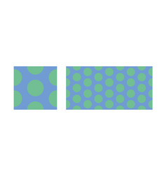 Peas seamless pattern from circles vector