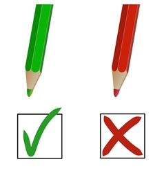 Pencil marks vector