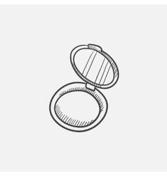 Powder box sketch icon vector