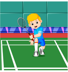 professional badminton player vector image