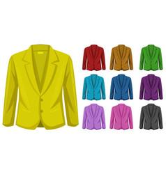 Professional blazer on white background vector