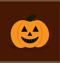 Pumkin on the durk background vector