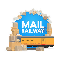 railway mail delivery post office logistics vector image