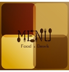 Restaurant menu with modified letters 3 vector