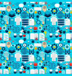 robotics tile pattern vector image