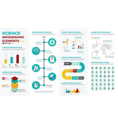 science education infographic elements vector image