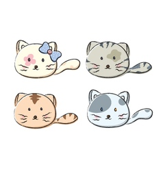 set cute cats on white background vector image
