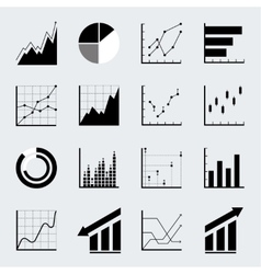 set infographic icons vector image