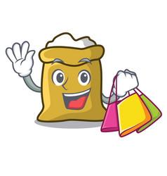 Shopping flour character cartoon style vector