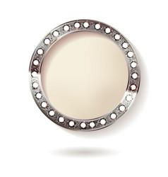 silver round frame cinema vector image