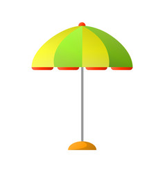 Summer umbrella to create shade in hot day vector