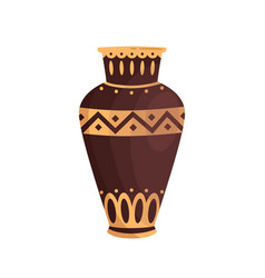traditional antique greek vase decorated vector image