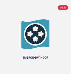 Two color embroidery hoop icon from sew concept vector