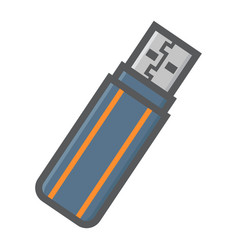 usb flash drive colorful line icon vector image