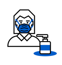 use hand sanitizer vector image