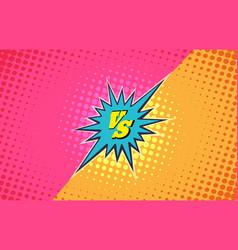 versus duel fighting background vector image