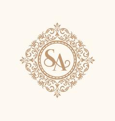 Vintage gold luxury logo design template vector