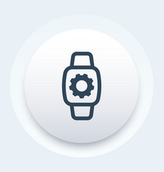 watch repair icon sign vector image