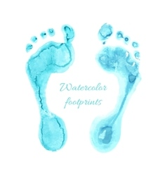 Watercolor children foots vector image
