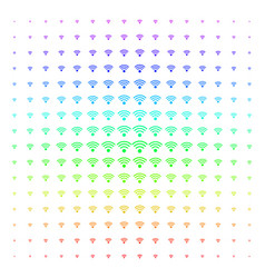 wi-fi source shape halftone spectral grid vector image