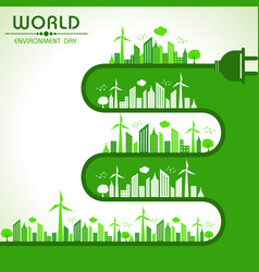 World environment day greeting vector