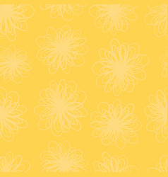 yellow flower texture seamless background vector image
