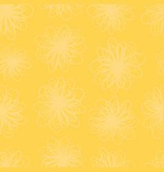 Yellow flower texture seamless background vector