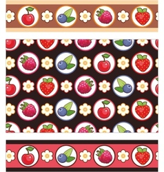 berry background vector image