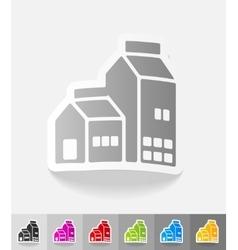 realistic design element dairy farm vector image vector image