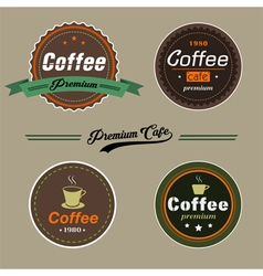 Coffee elementsbadge in vintage style vector image vector image