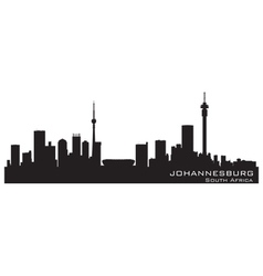 Johannesburg South Africa skyline Detailed silhoue vector image