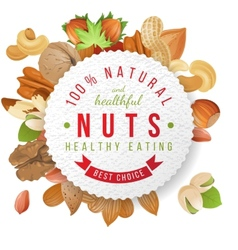 nuts label with type design vector image vector image