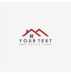 real estate apartment property business logo vector image vector image