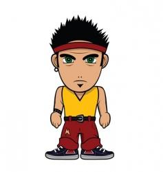 chibi guy punk vector image