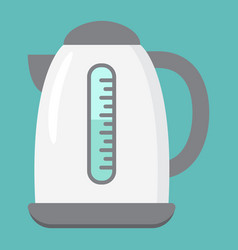 electric kettle flat icon kitchen and appliance vector image