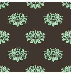 Seamless stylized peony pattern vector image