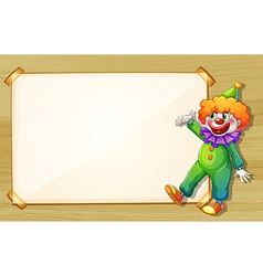 A clown showing the empty board vector image