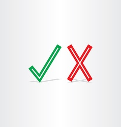 check mark yes and no symbol design element vector image vector image