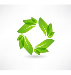 environmental group leaves icon vector image