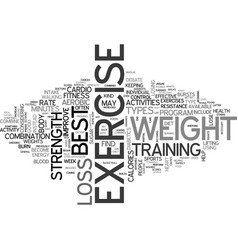 whats the best exercise for weight loss text word vector image vector image