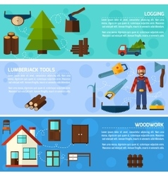 Woodworking Industry Banners vector image vector image