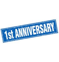 1st anniversary square stamp vector