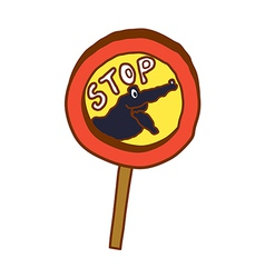 A stop sign vector image