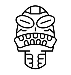 angry tribal idol icon outline style vector image