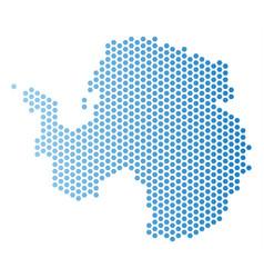 Antarctica map hex tile abstraction vector