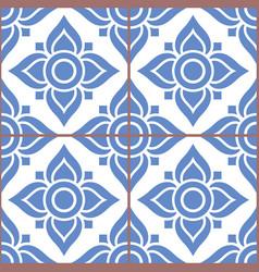 azujelo lisbon tile pattern - lisbon tiles vector image