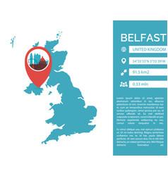 belfast map infographic vector image