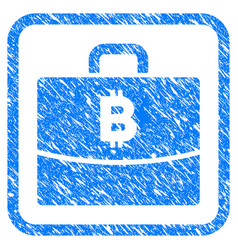 bitcoin accounting case framed stamp vector image