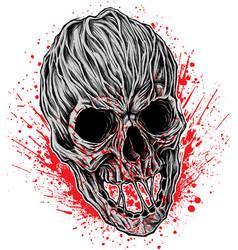 Bloody skull vector