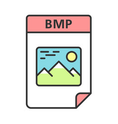 Bmp file color icon bitmap image raster graphics vector